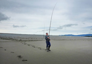 A good, stiff surf rod is essential for achieving decent casting distances and landing baits in deeper, fish-holding water.