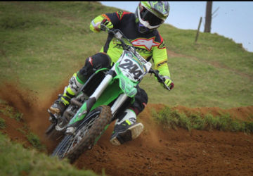 Rich cutting it up on his home track near Pukekohe