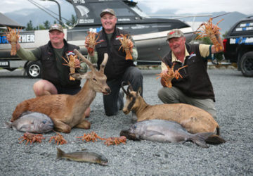 Murray Bond, far left, had a great time in Kaikoura.